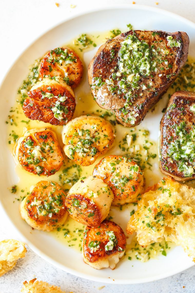 Garlic Butter Steak And Scallop