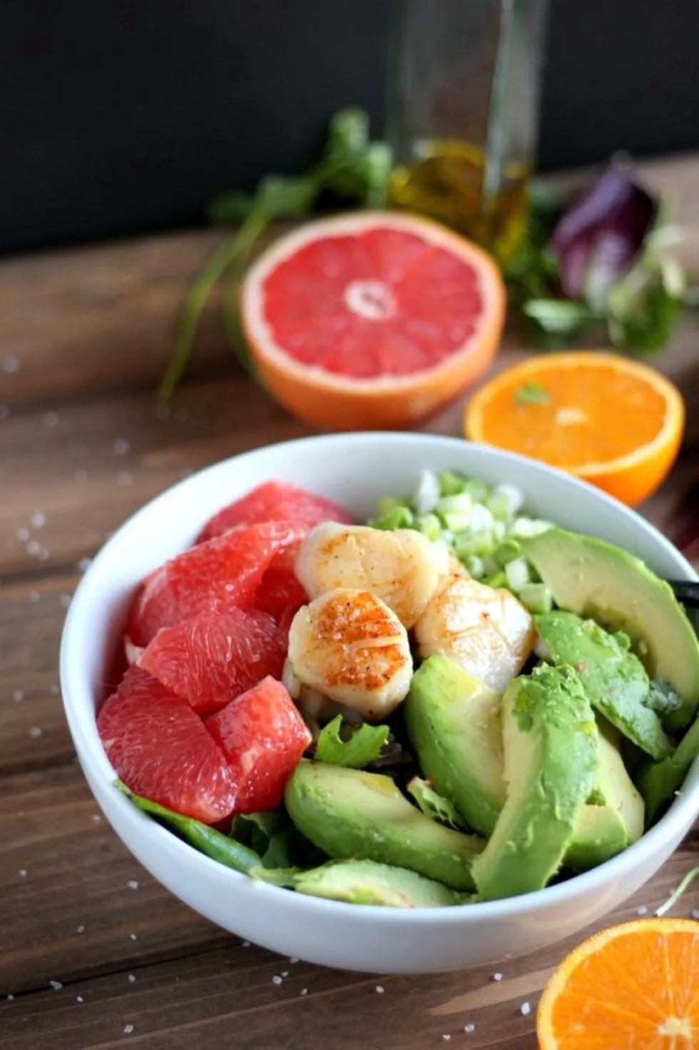 Seared Scallop Salad With Grapefruit And Avocado