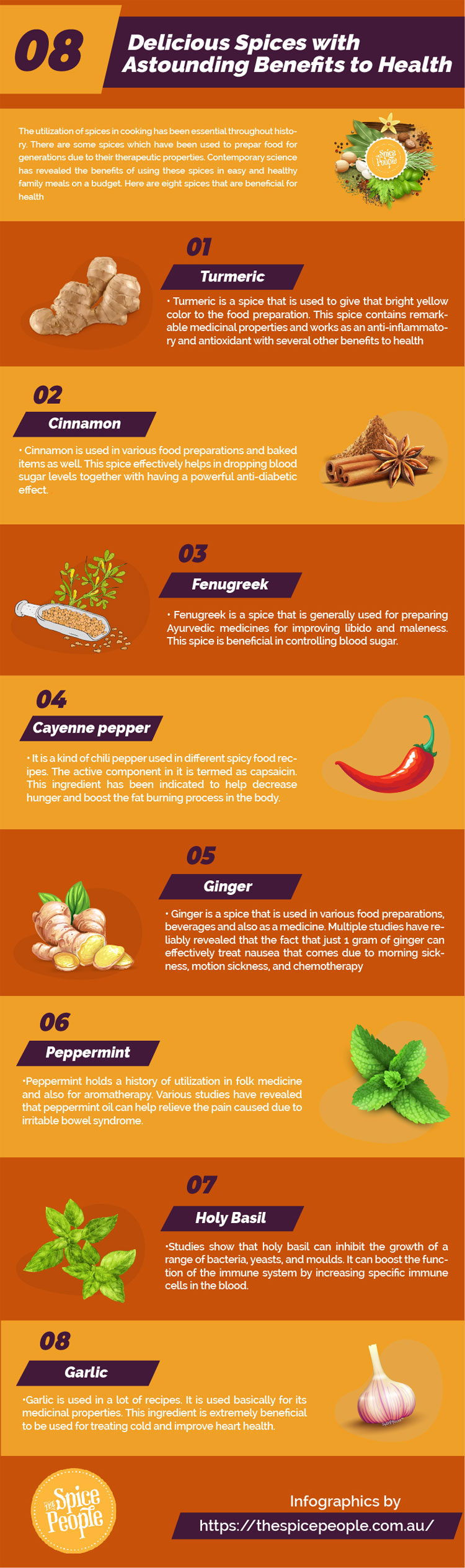 8 Delicious Spices With Astounding Benefits To Health