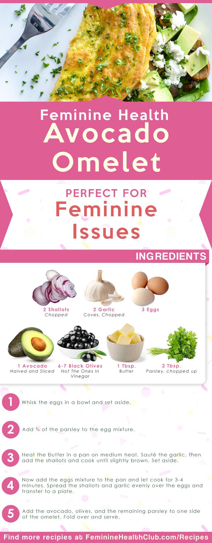 Feminine Health Avocado Omelet