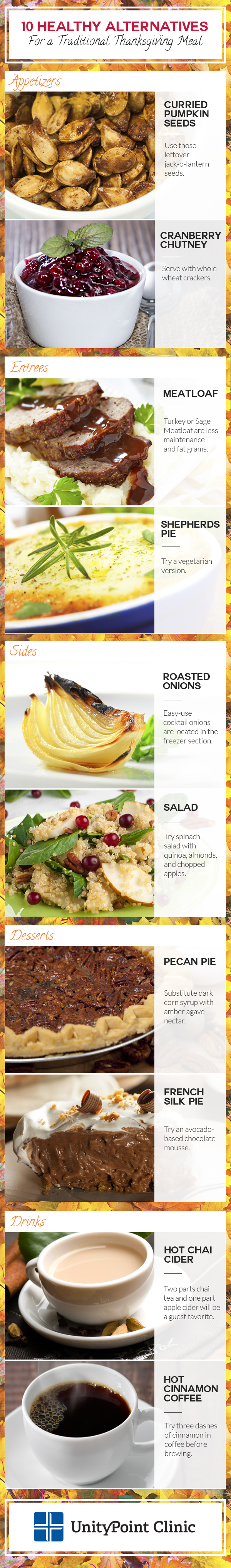 10 Healthy Alternatives for a Traditional Thanksgiving Meal