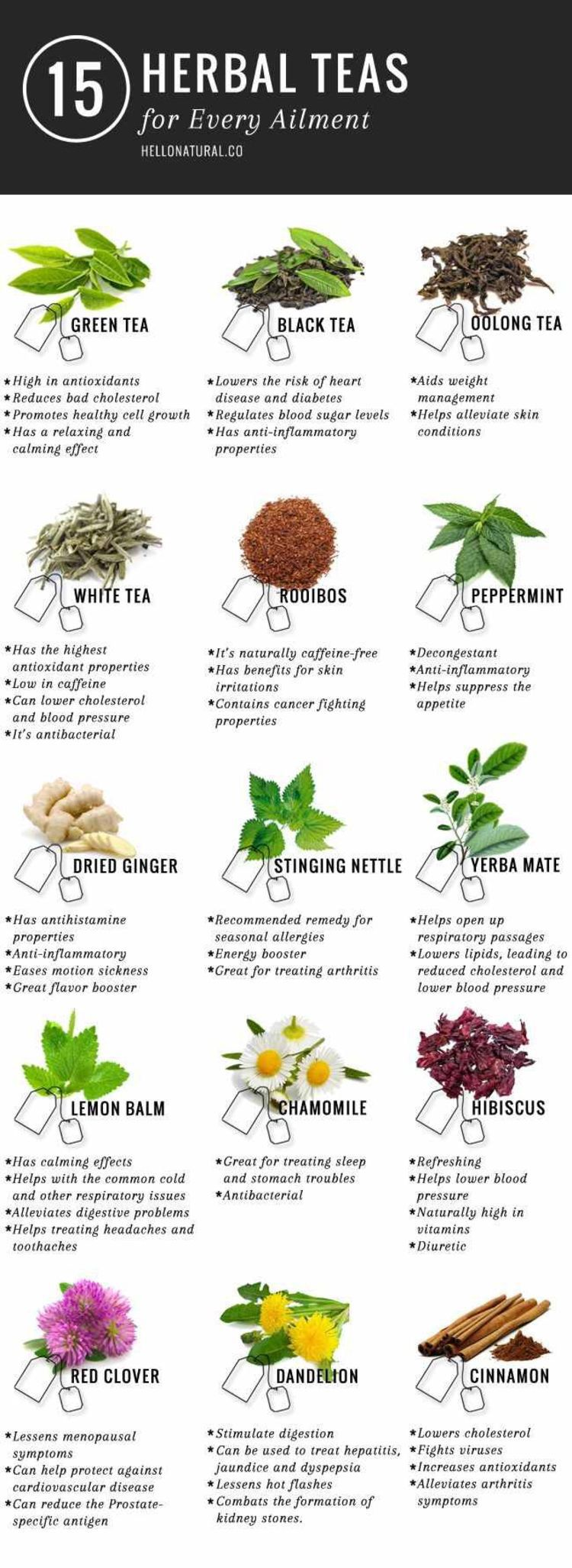 15 Herbal Teas For Every Ailment