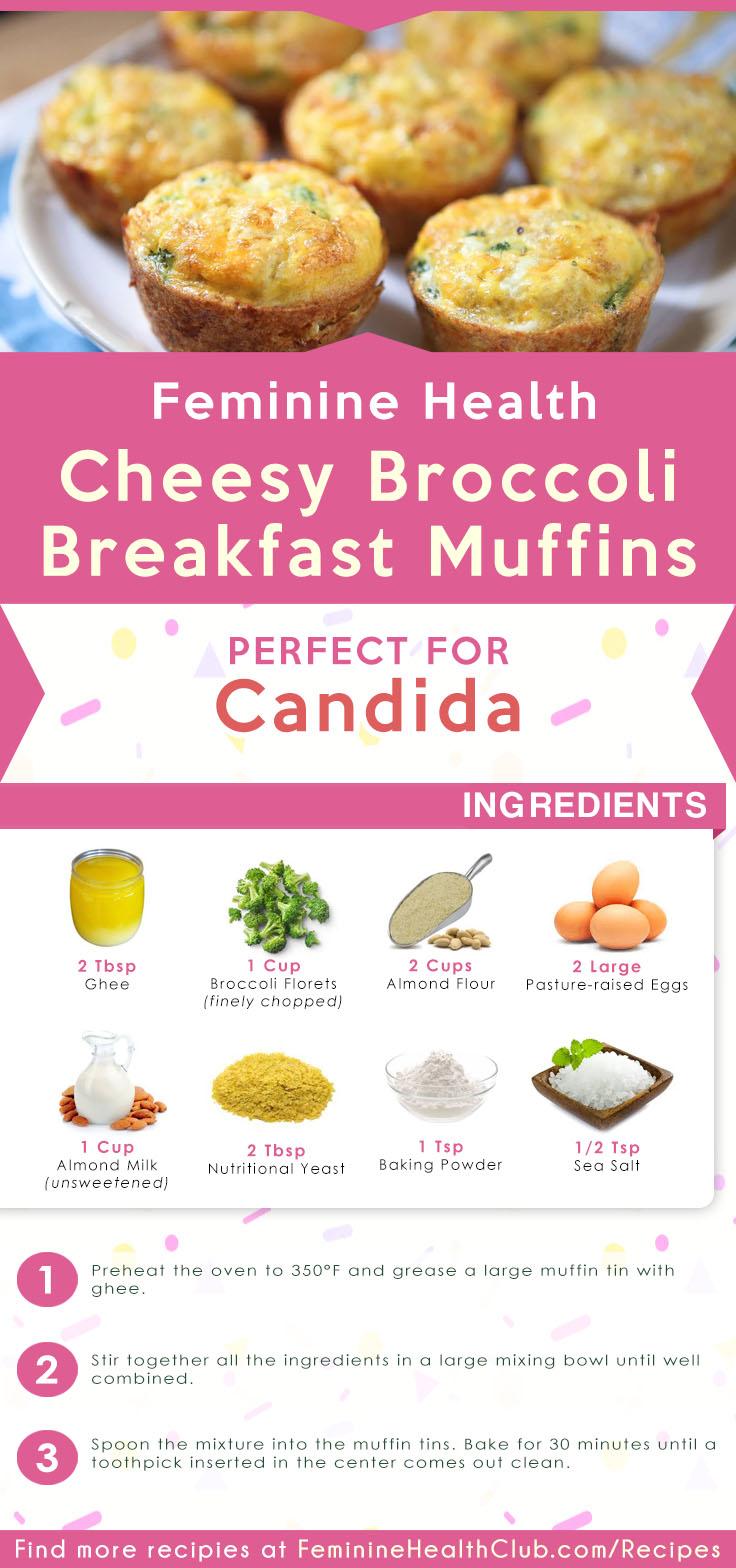 Cheesy Broccoli Breakfast Muffins Recipe