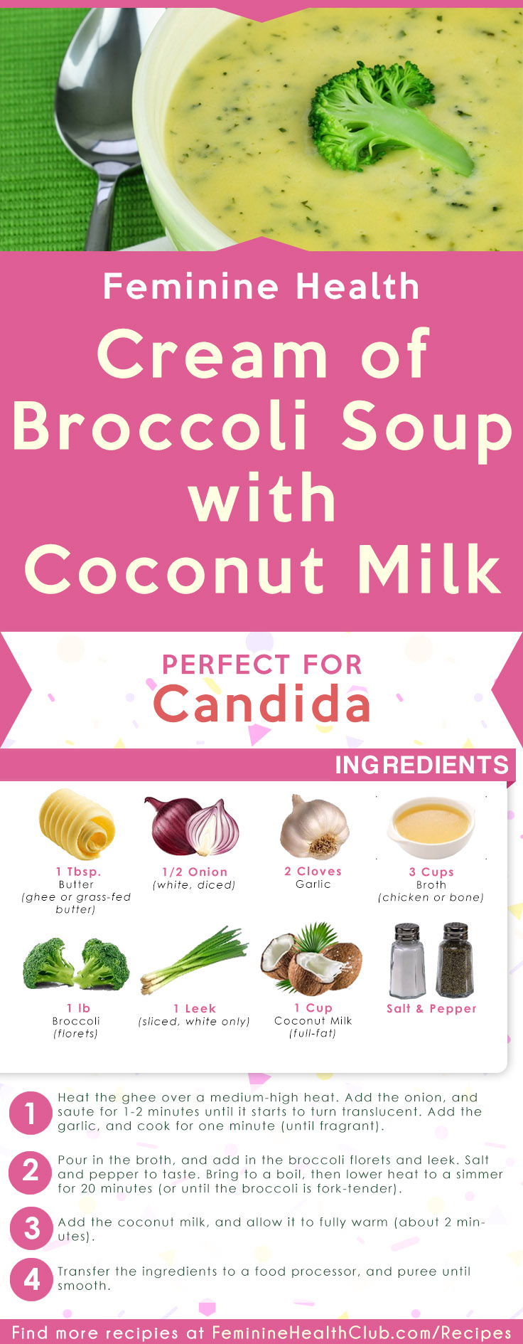 Cream of Broccoli Soup with Coconut Milk Recipe