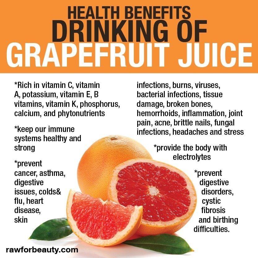 Health Benefits Drinking Of Grapefruit Juice