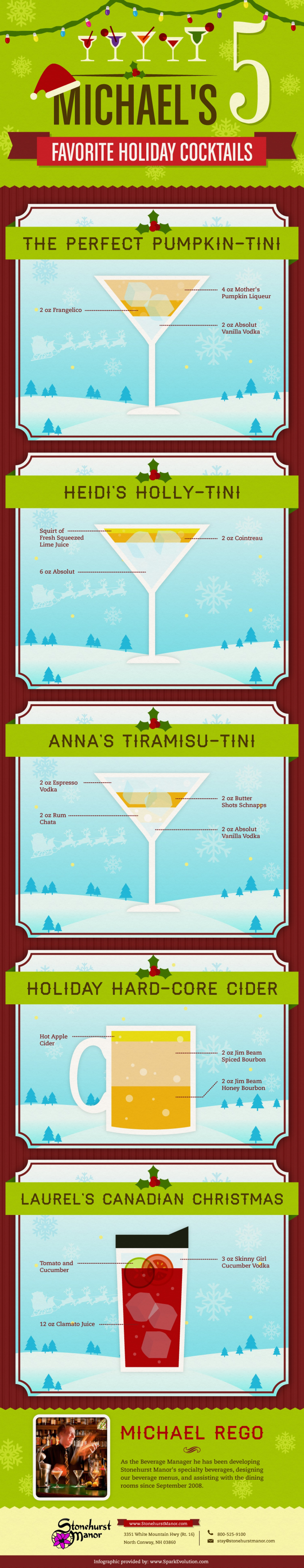 Michaels Top 5 Holiday Cocktails