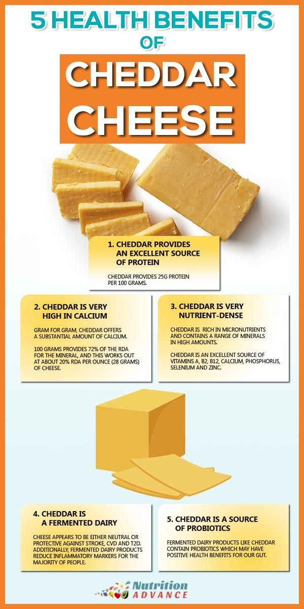5 Health Benefits of Cheddar Cheese