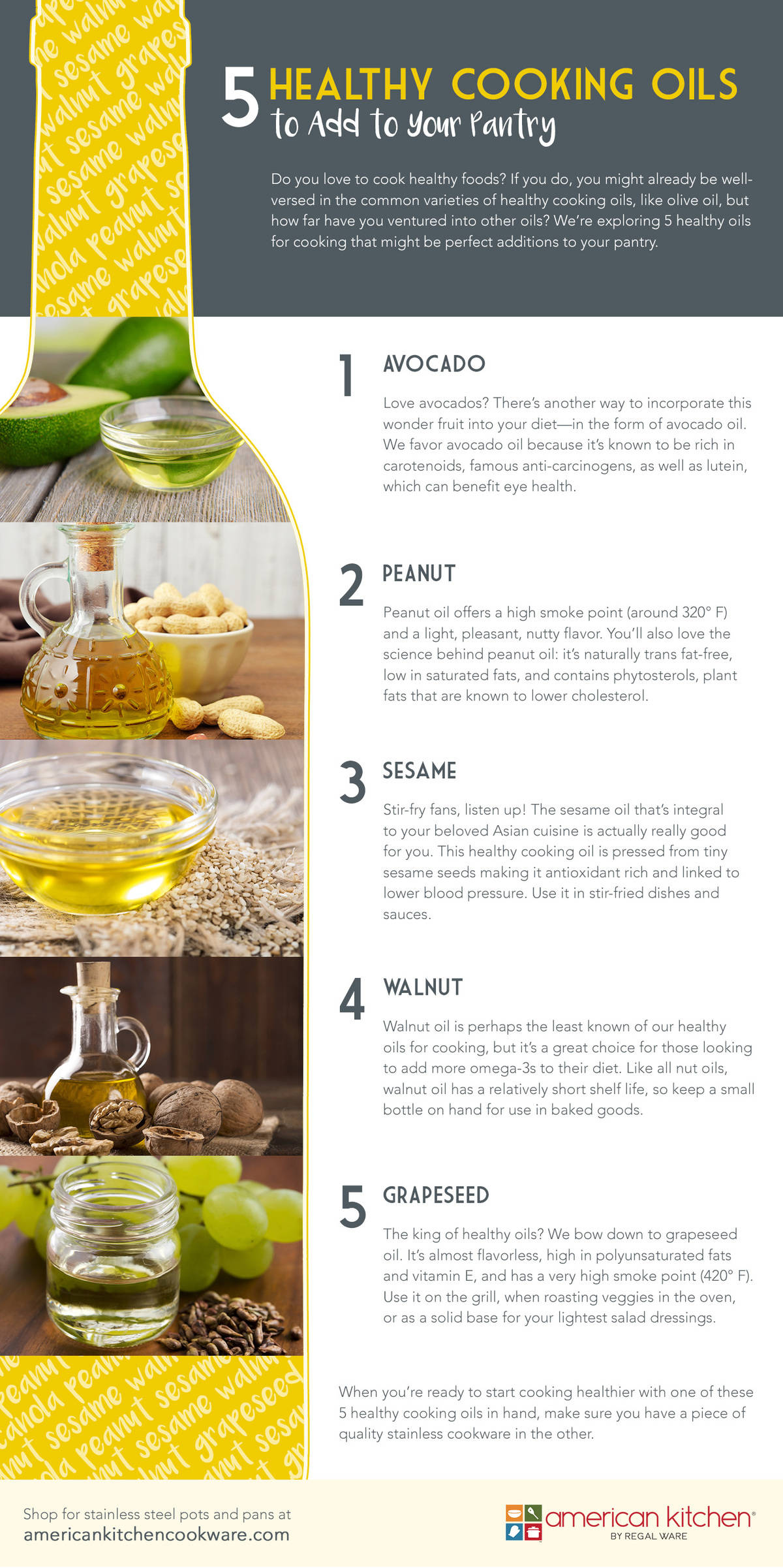 5 Healthy Cooking Oils to Add to Your Pantry