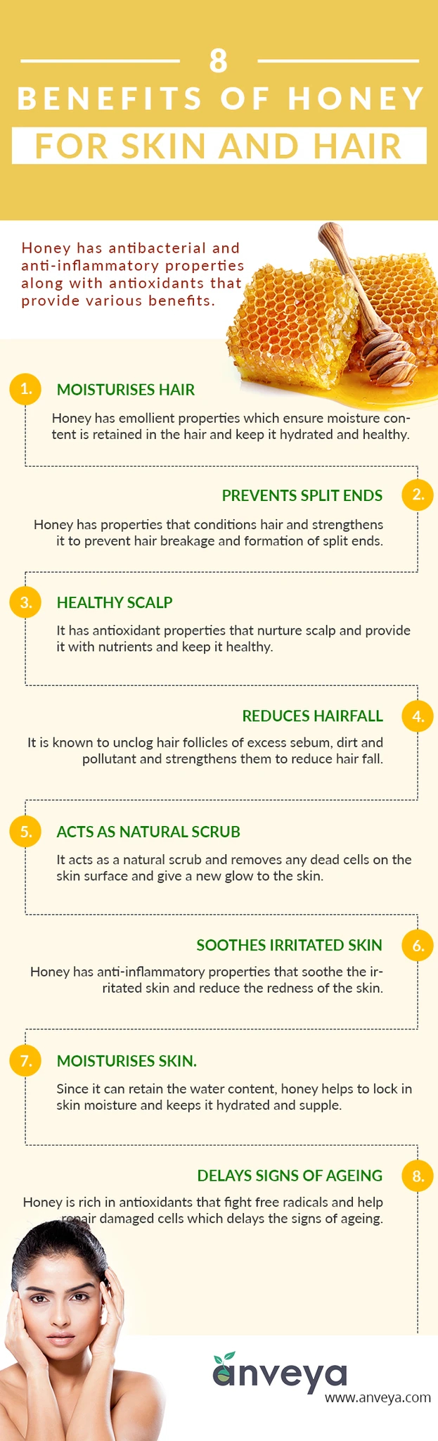 8 Benefits of Honey for Skin and Hair