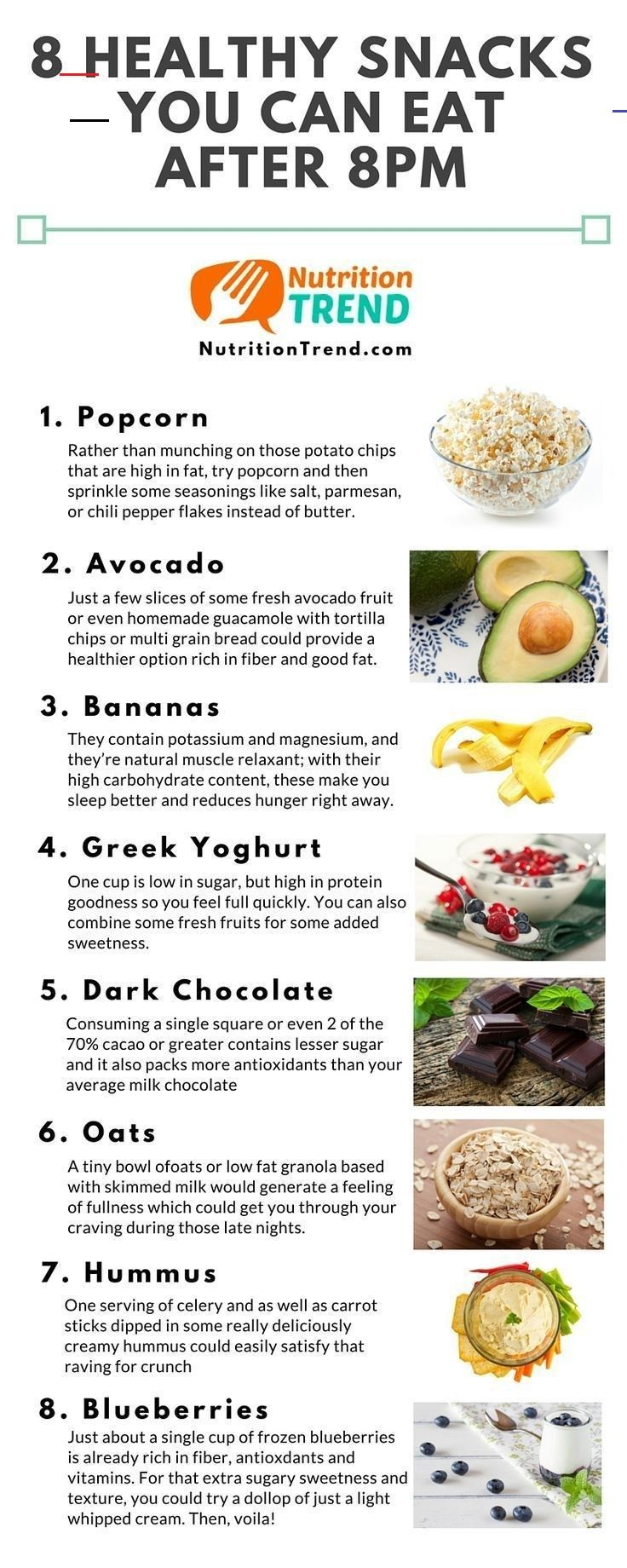 8 Healthy Snacks You Can Eat After 8 PM