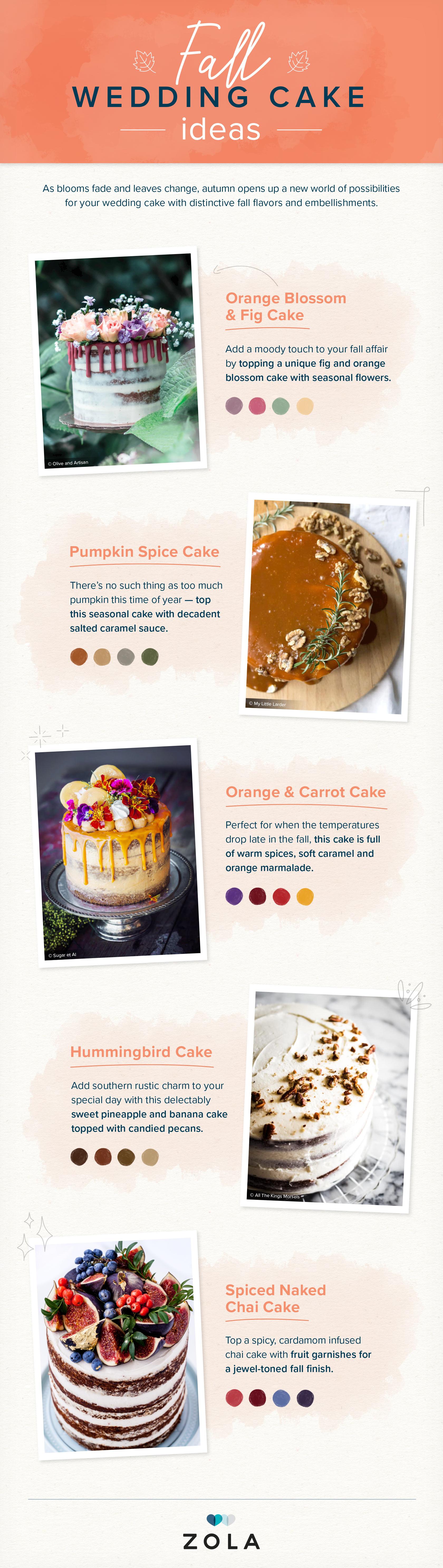 Wedding Cakes by Season Fall