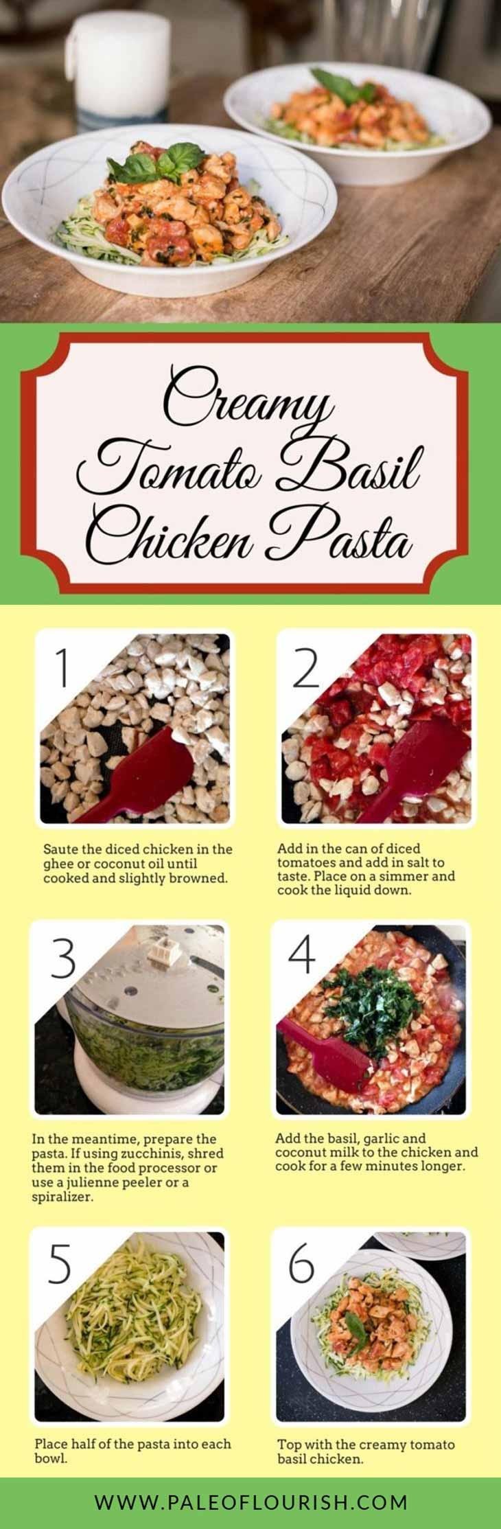Creamy Tomato Basil Chicken Pasta Recipe