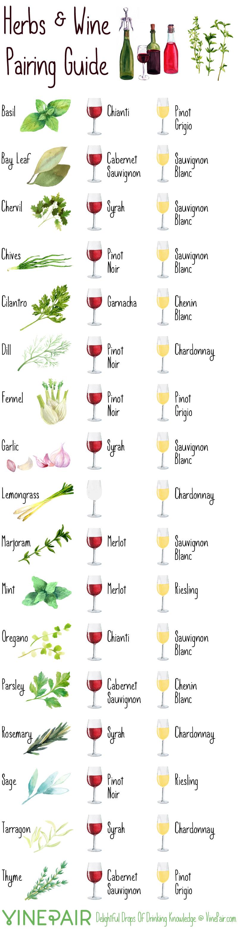 Herbs & Wine Pairing Guide