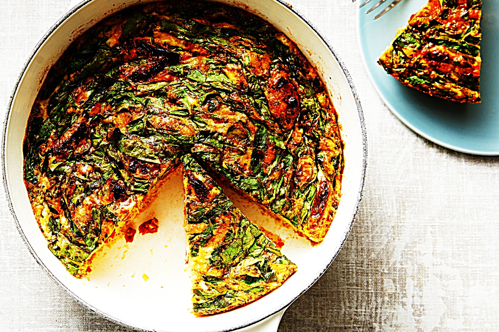 Stupid-Easy Recipe for 5 Ingredient Sun-Dried Tomato and Spinach Frittata (#1 Top-Rated)