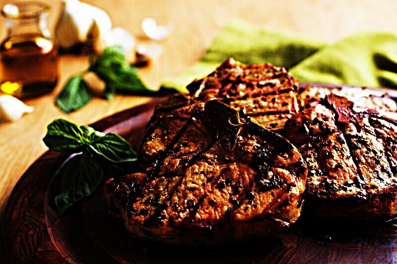 Stupid-Easy Recipe for Basil-Garlic Porterhouse Pork Chops (#1 Top-Rated)