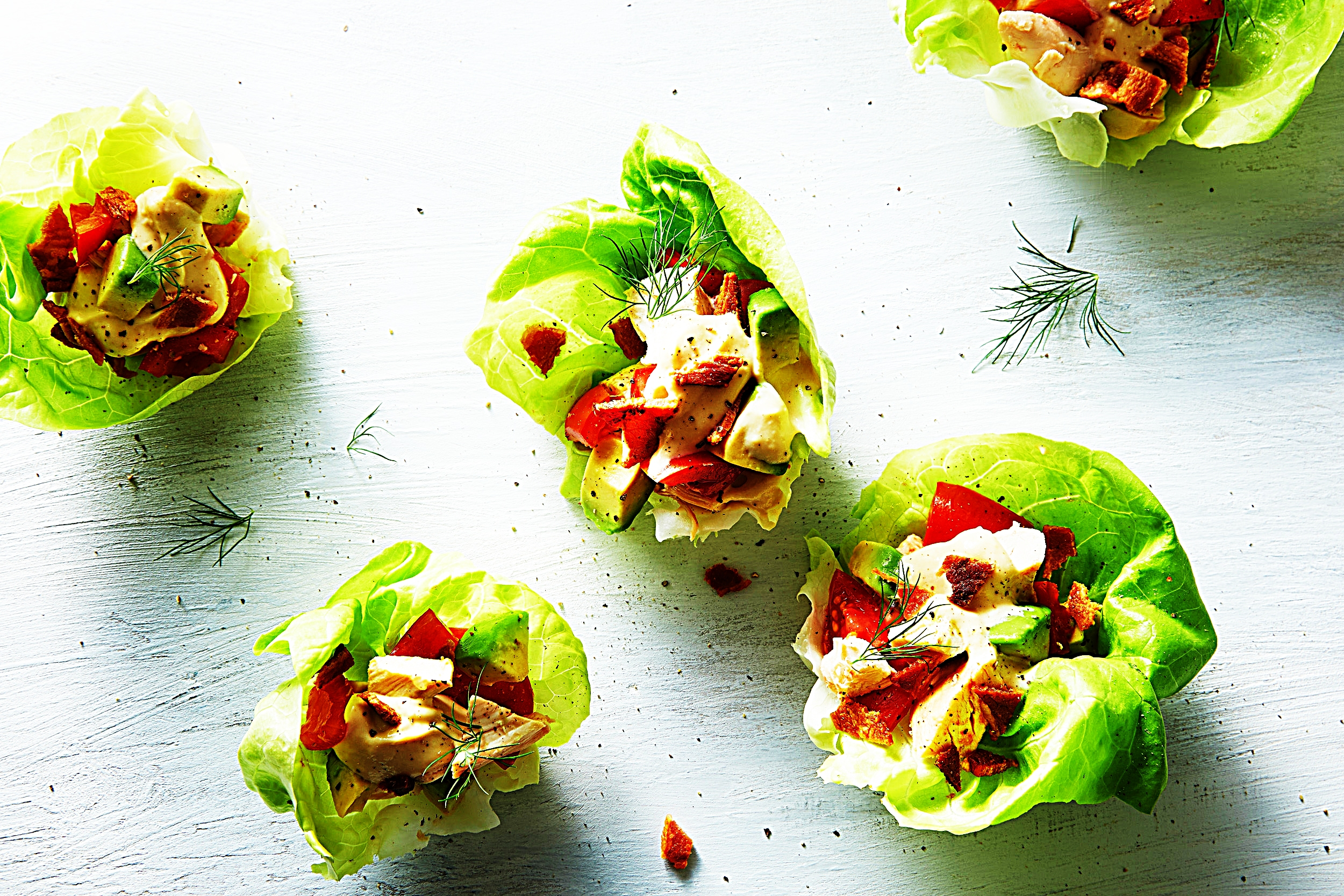 Stupid-Easy Recipe for BLTA Chicken Lettuce Wraps (#1 Top-Rated)