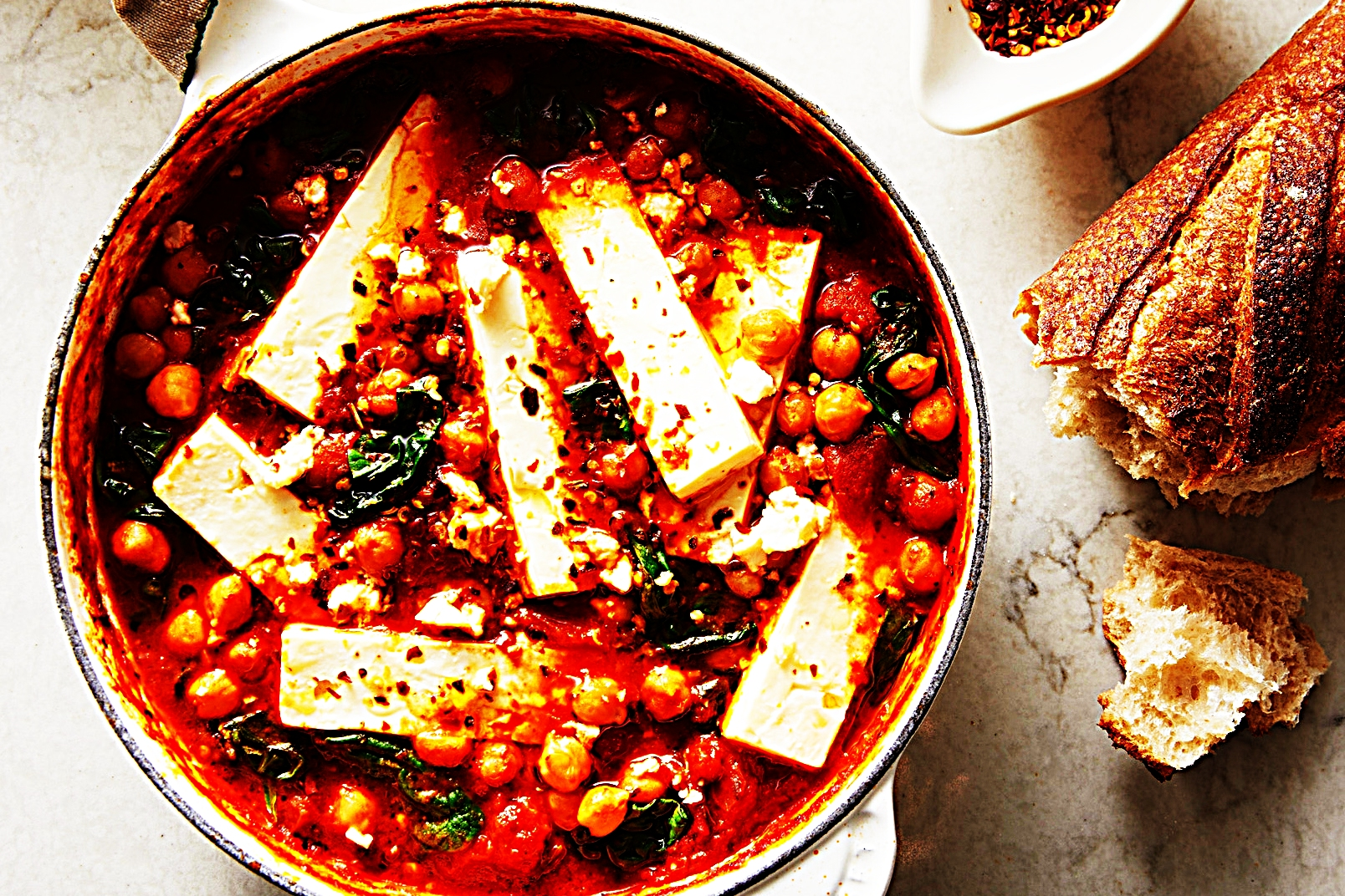 Stupid-Easy Recipe for Braised Chickpeas with Tomato, Spinach, and Feta (#1 Top-Rated)