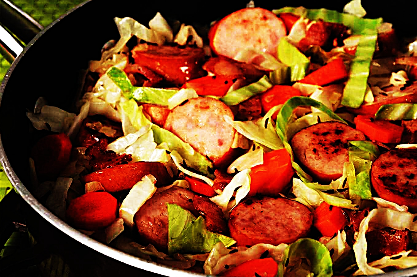 Stupid-Easy Recipe for Cabbage And Sauerkraut With Smoked Sausage (#1 Top-Rated)