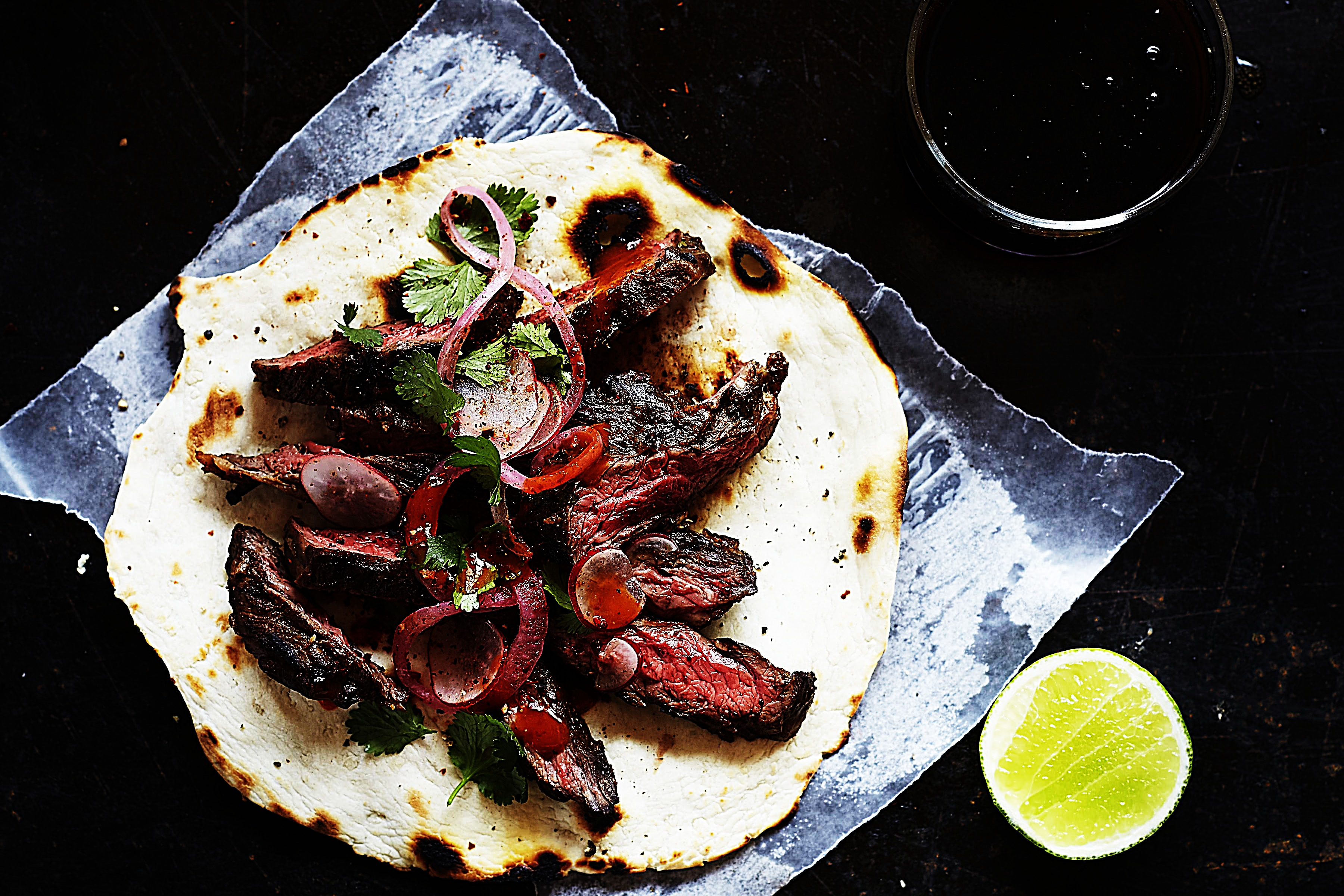 Stupid-Easy Recipe for Carne Asada Tacos with Flour Tortillas (#1 Top-Rated)