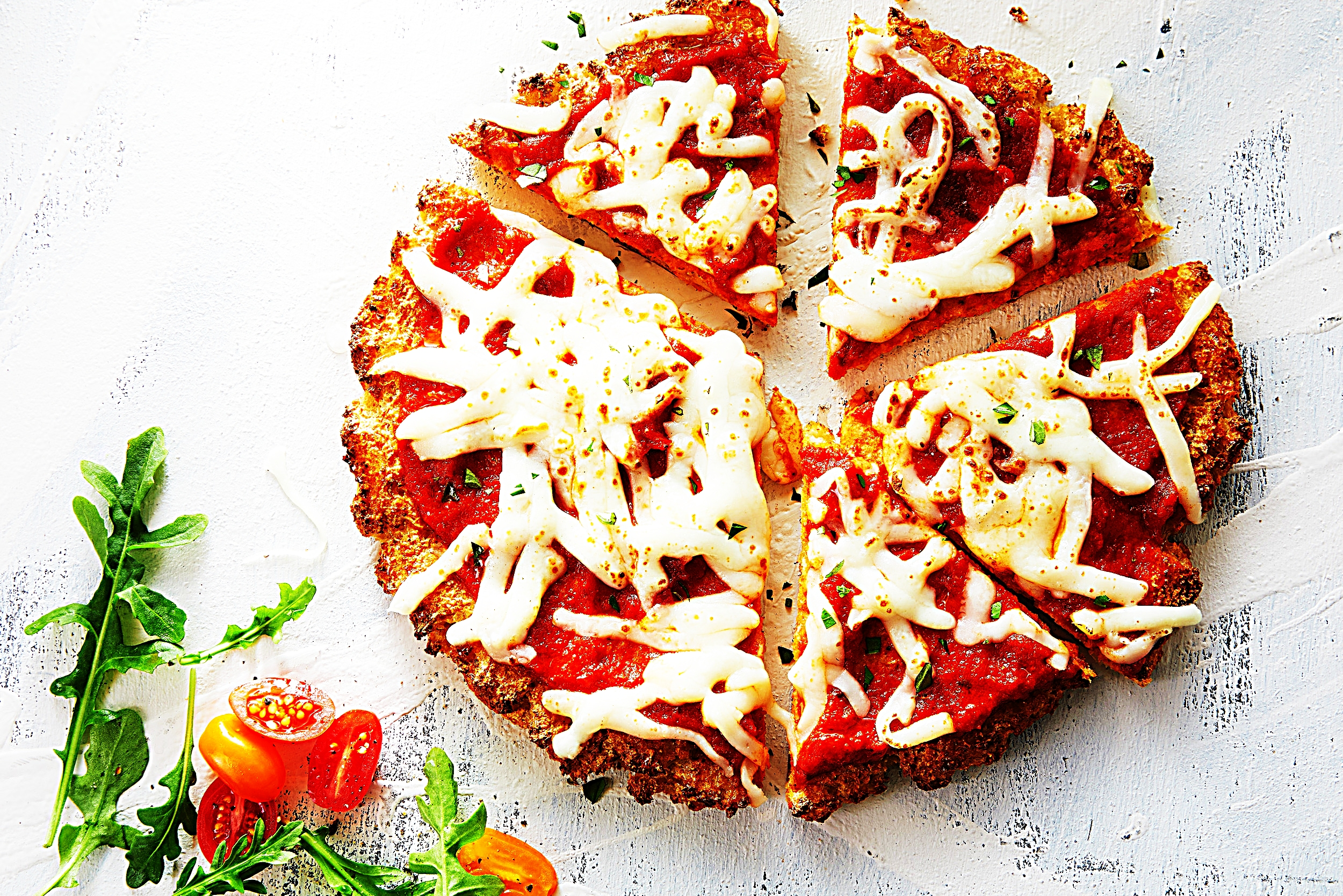 Stupid-Easy Recipe for Cheesy Gluten-Free Cauliflower Crust Pizzas (#1 Top-Rated)