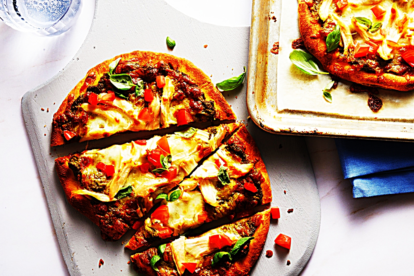 Stupid-Easy Recipe for Chicken Pesto Naan Pizzas (#1 Top-Rated)