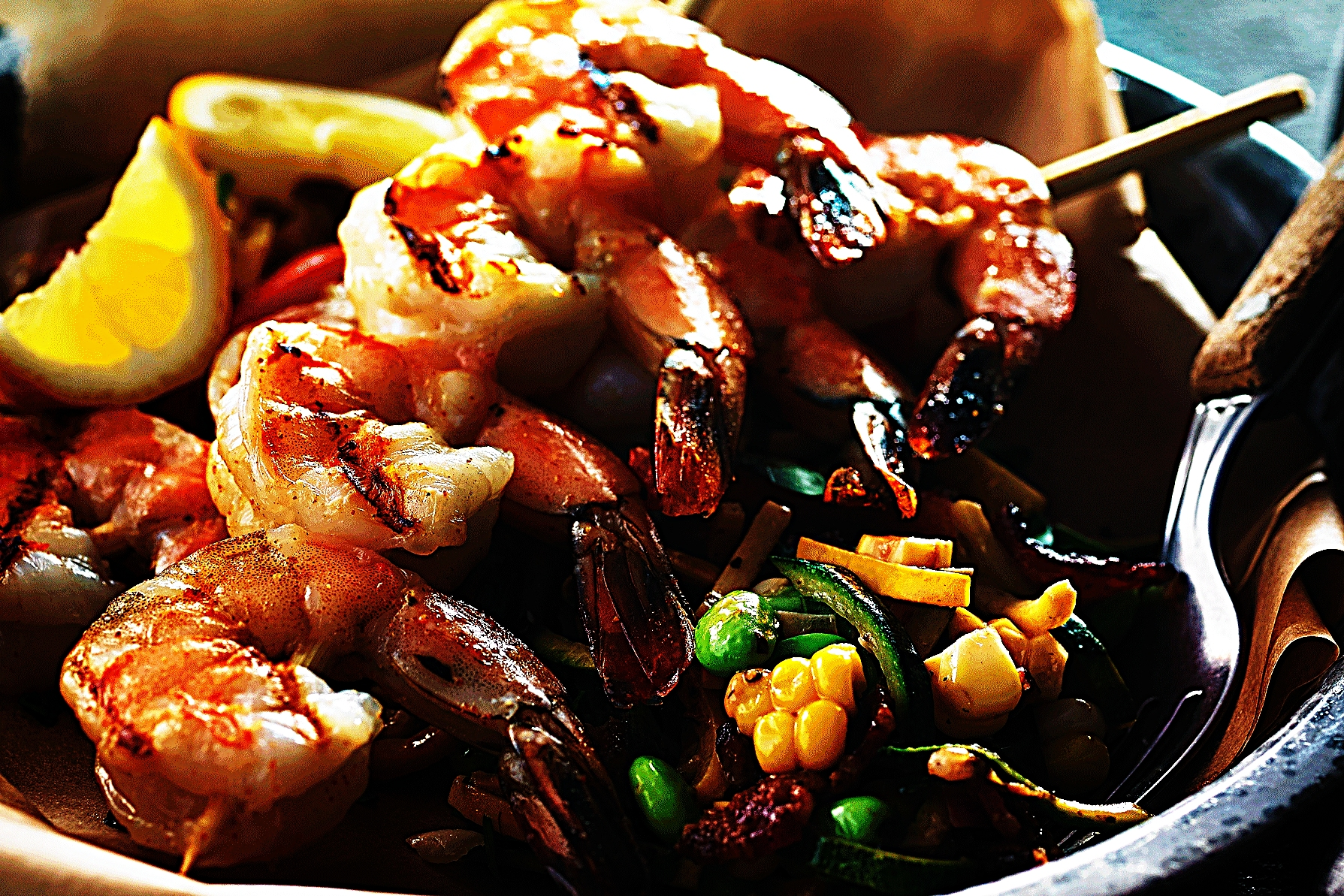 Stupid-Easy Recipe for Creamy Zuccotash with Grilled Shrimp (#1 Top-Rated)