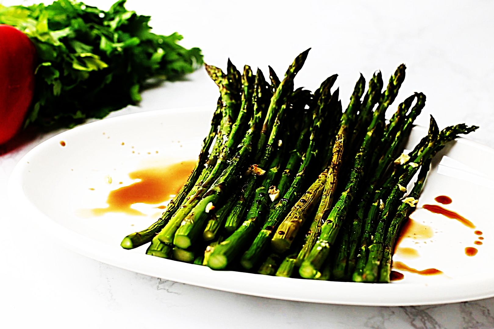 Stupid-Easy Recipe for Easy Honey-Balsamic Asparagus (#1 Top-Rated)