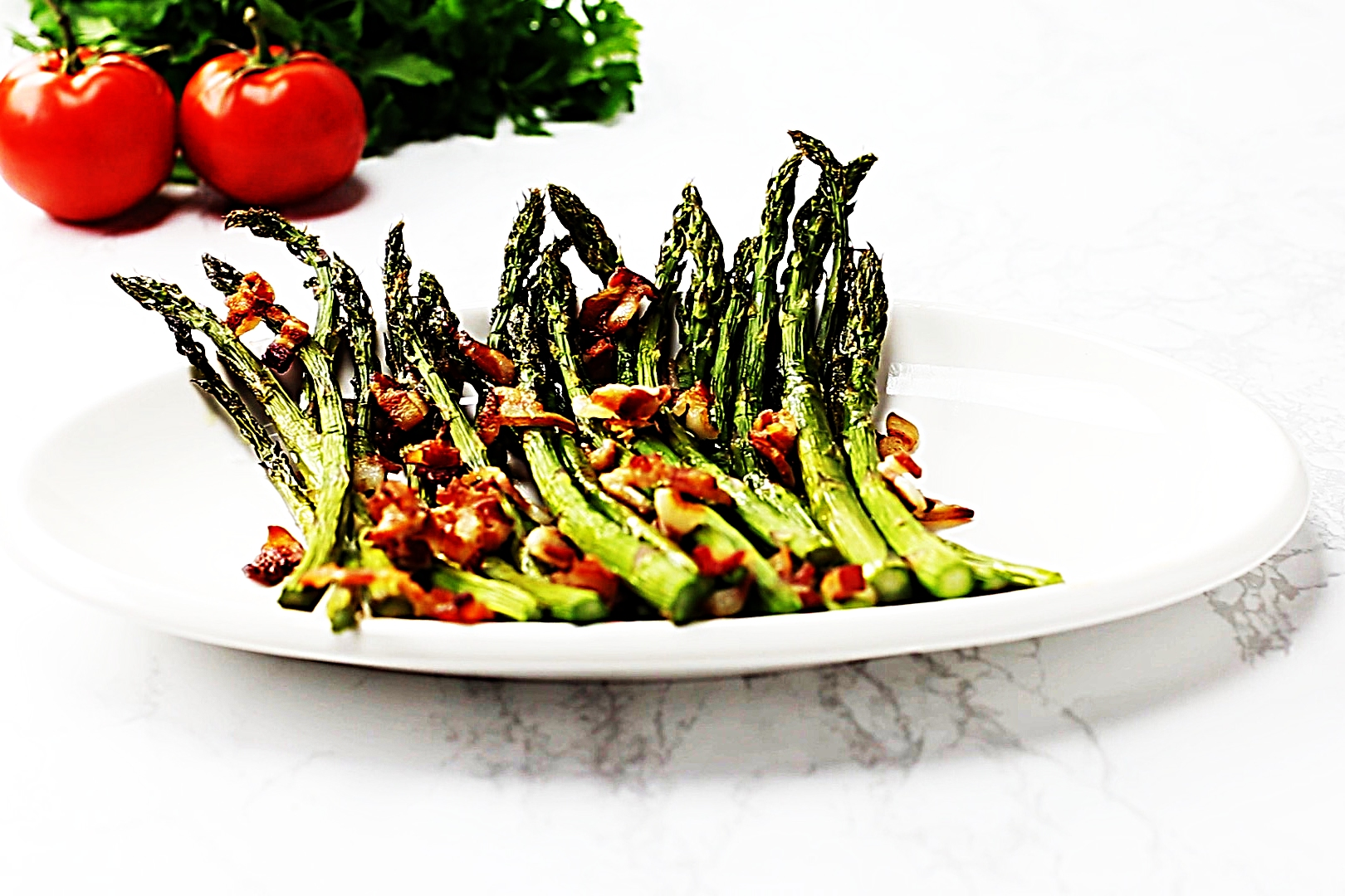 Stupid-Easy Recipe for Easy Keto Bacon-Garlic Asparagus (#1 Top-Rated)