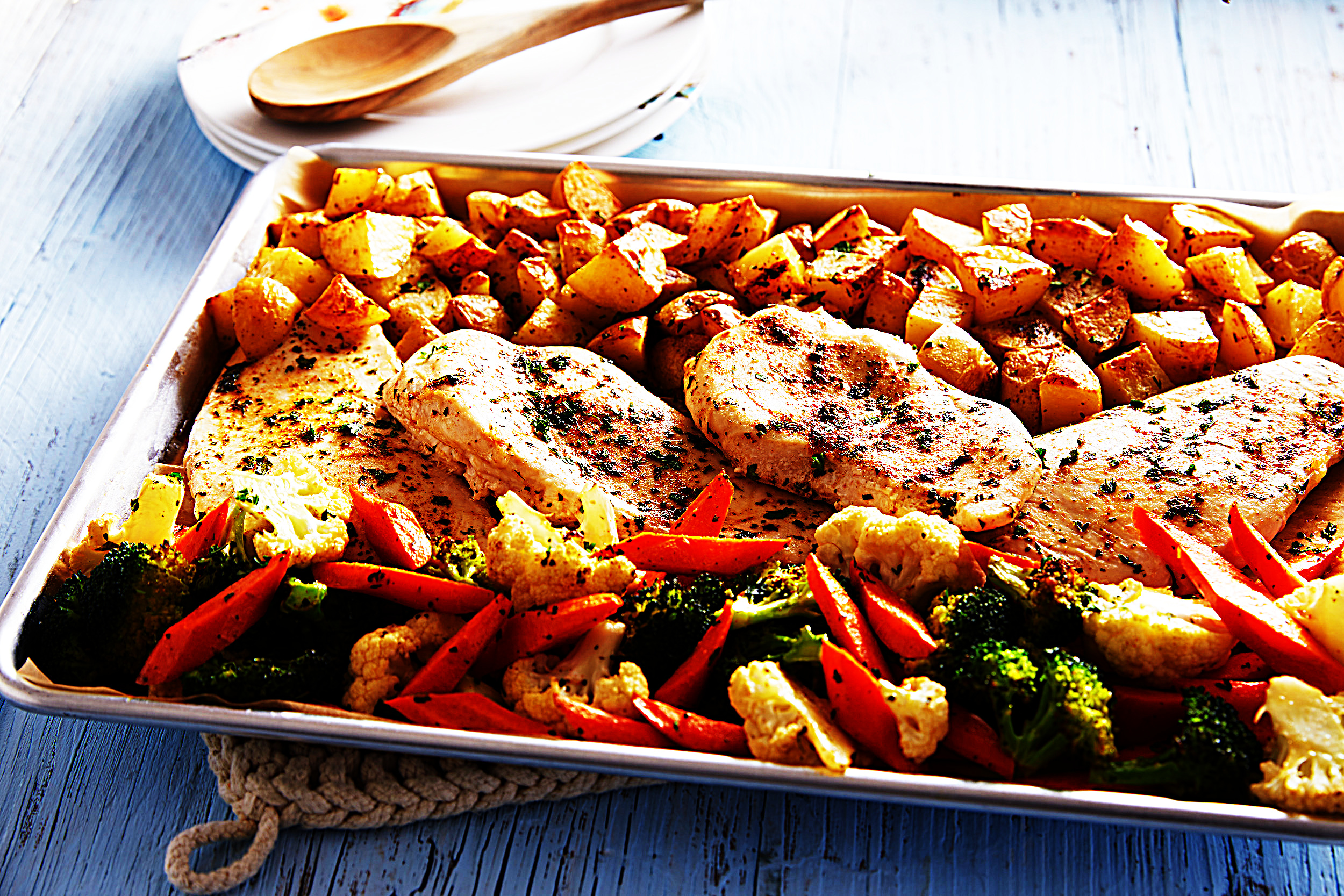 Stupid-Easy Recipe for Easy Sheet Pan Chicken and Veggies (#1 Top-Rated)