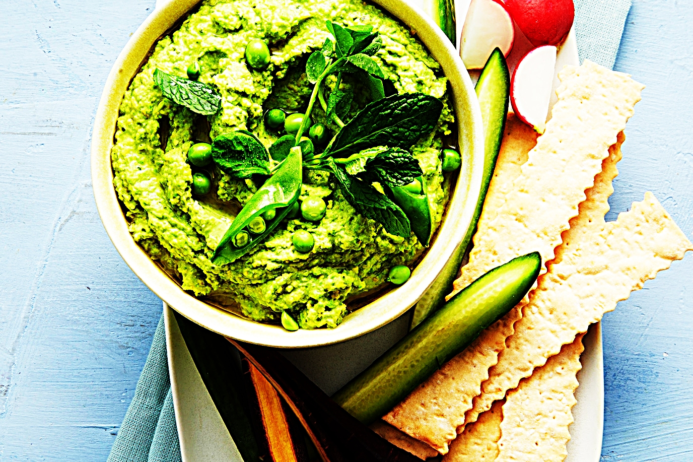 Stupid-Easy Recipe for Green Pea & Mint Hummus (#1 Top-Rated)