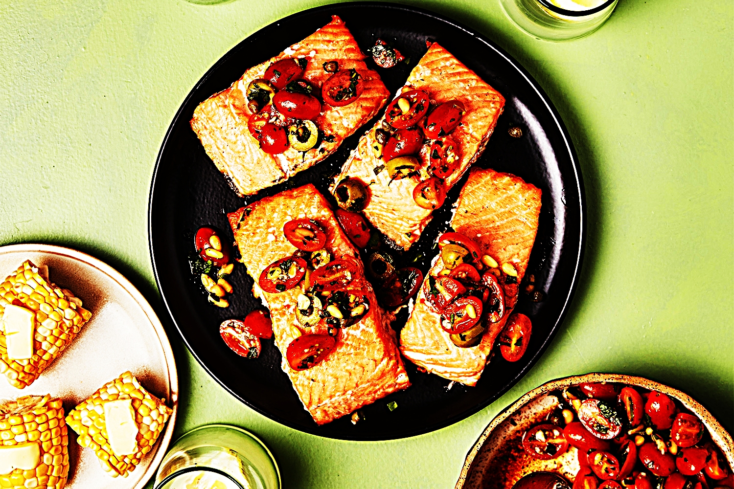 Stupid-Easy Recipe for Grilled Salmon with Speedy Tomato-Olive Relish (#1 Top-Rated)
