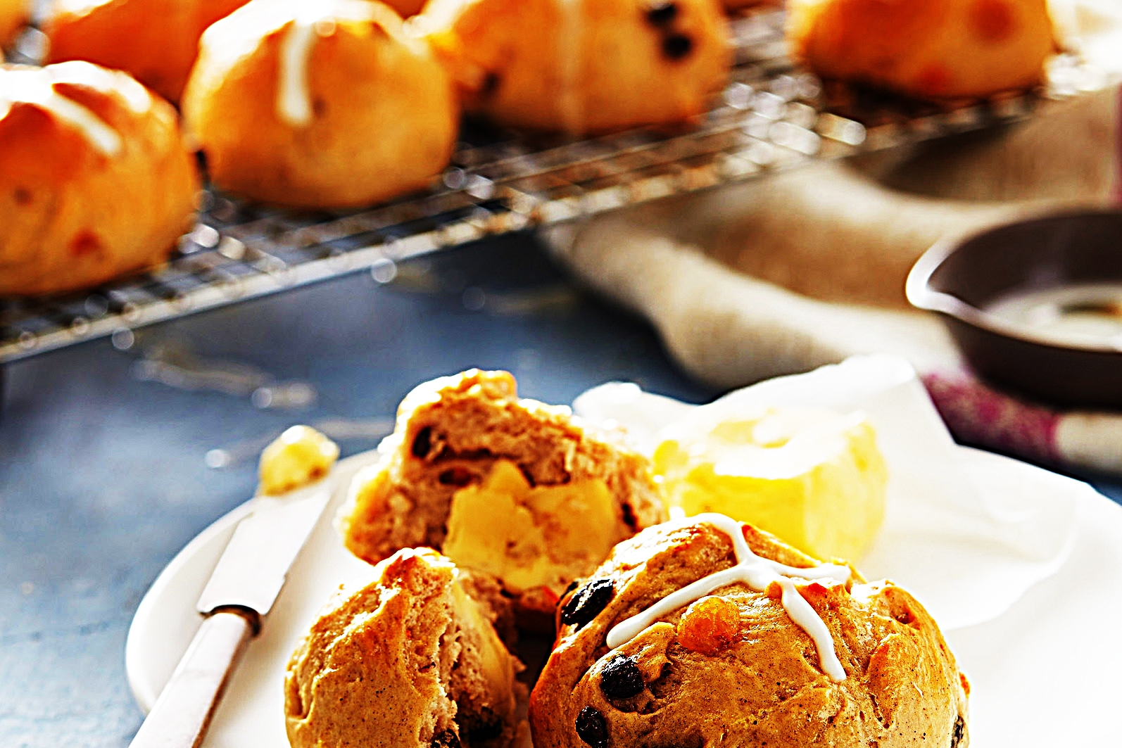 Stupid-Easy Recipe for Hot Cross Buns  (#1 Top-Rated)