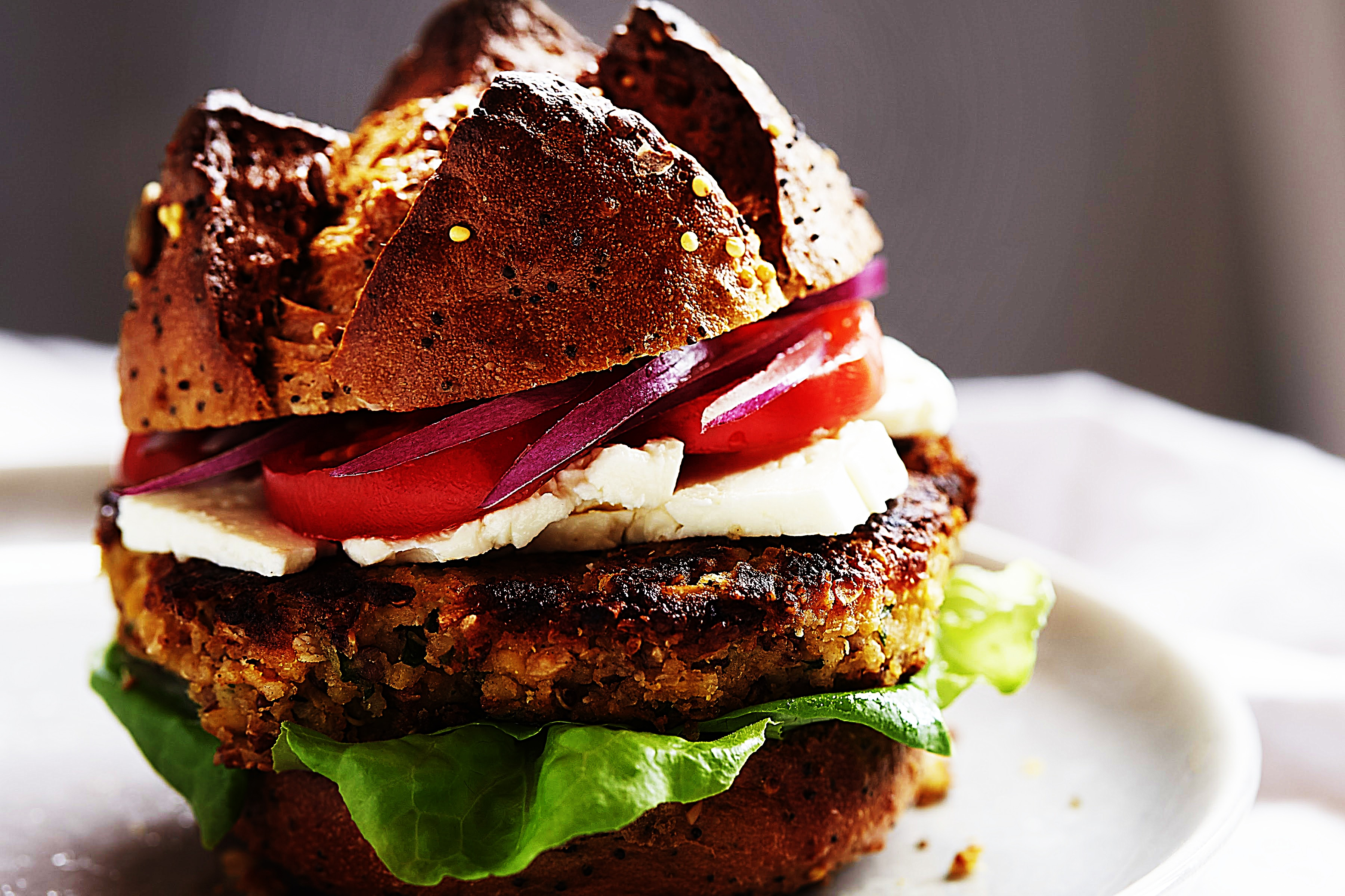 Stupid-Easy Recipe for Middle Eastern Veggie and Grain Burger (#1 Top-Rated)