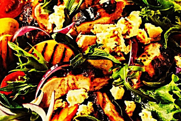 Stupid-Easy Recipe for Portuguese Chicken with Peach & Feta Salad (#1 Top-Rated)