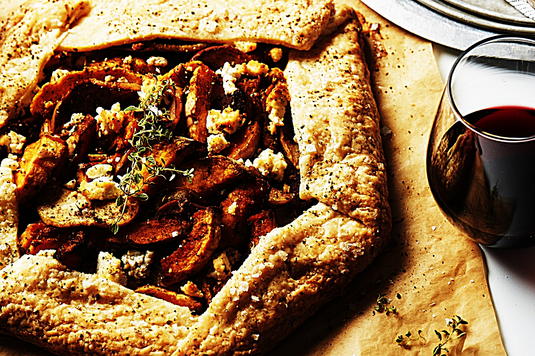 Stupid-Easy Recipe for Savory Butternut Squash, Apple, Thyme, and Goat Cheese Galette (#1 Top-Rated)
