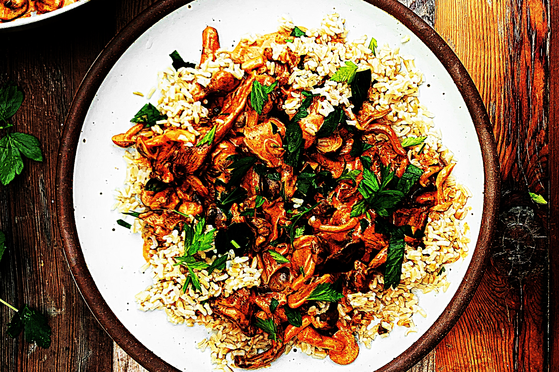Stupid-Easy Recipe for Shroom Goulash with Brown Rice (#1 Top-Rated)