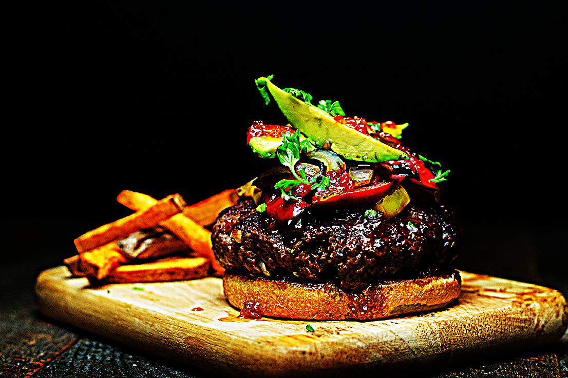 Stupid-Easy Recipe for Summer Burger with Hot Pepper Jelly and Paprika Fries (#1 Top-Rated)