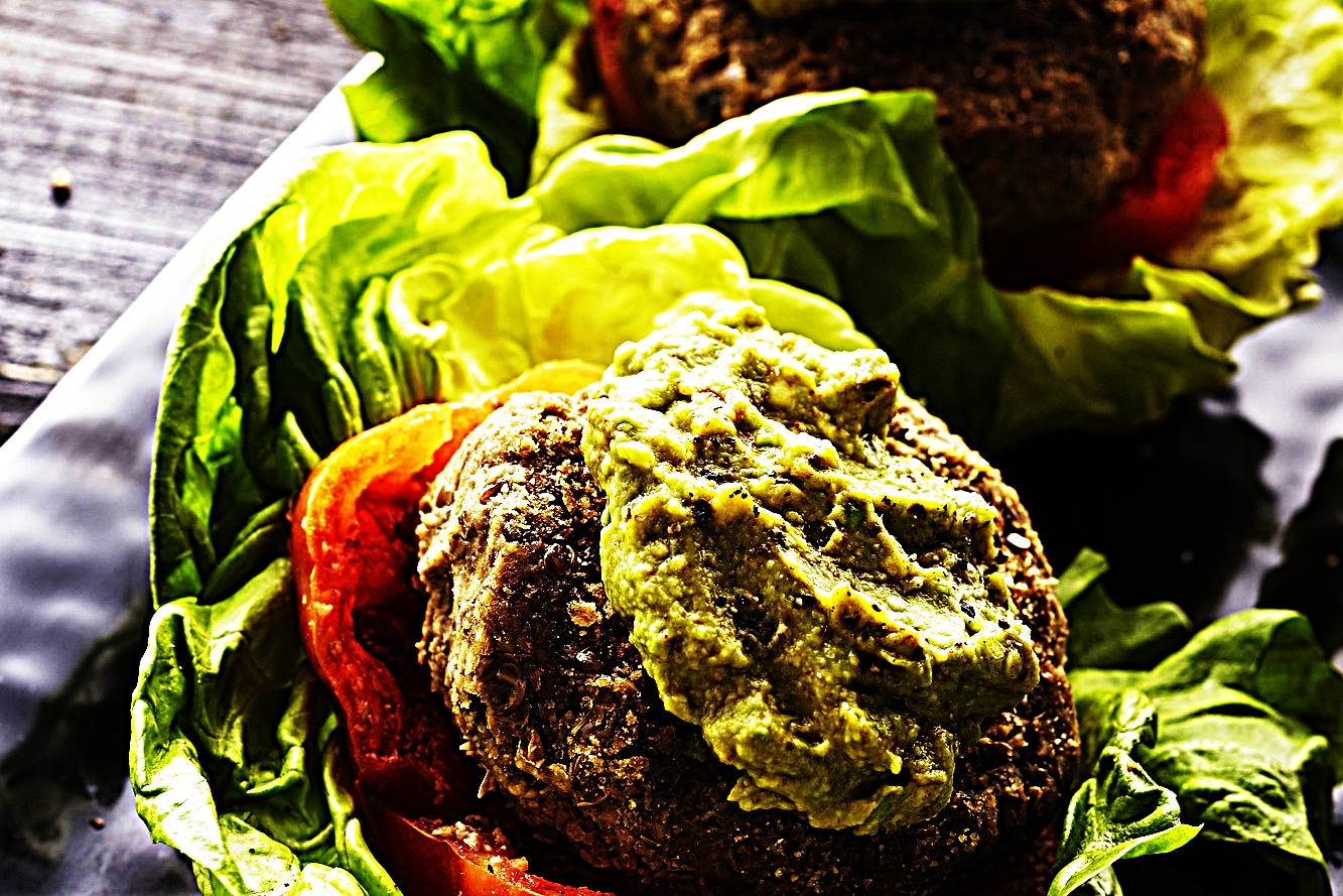 Stupid-Easy Recipe for Veggie and Lentil Burgers with Avocado Mash (#1 Top-Rated)