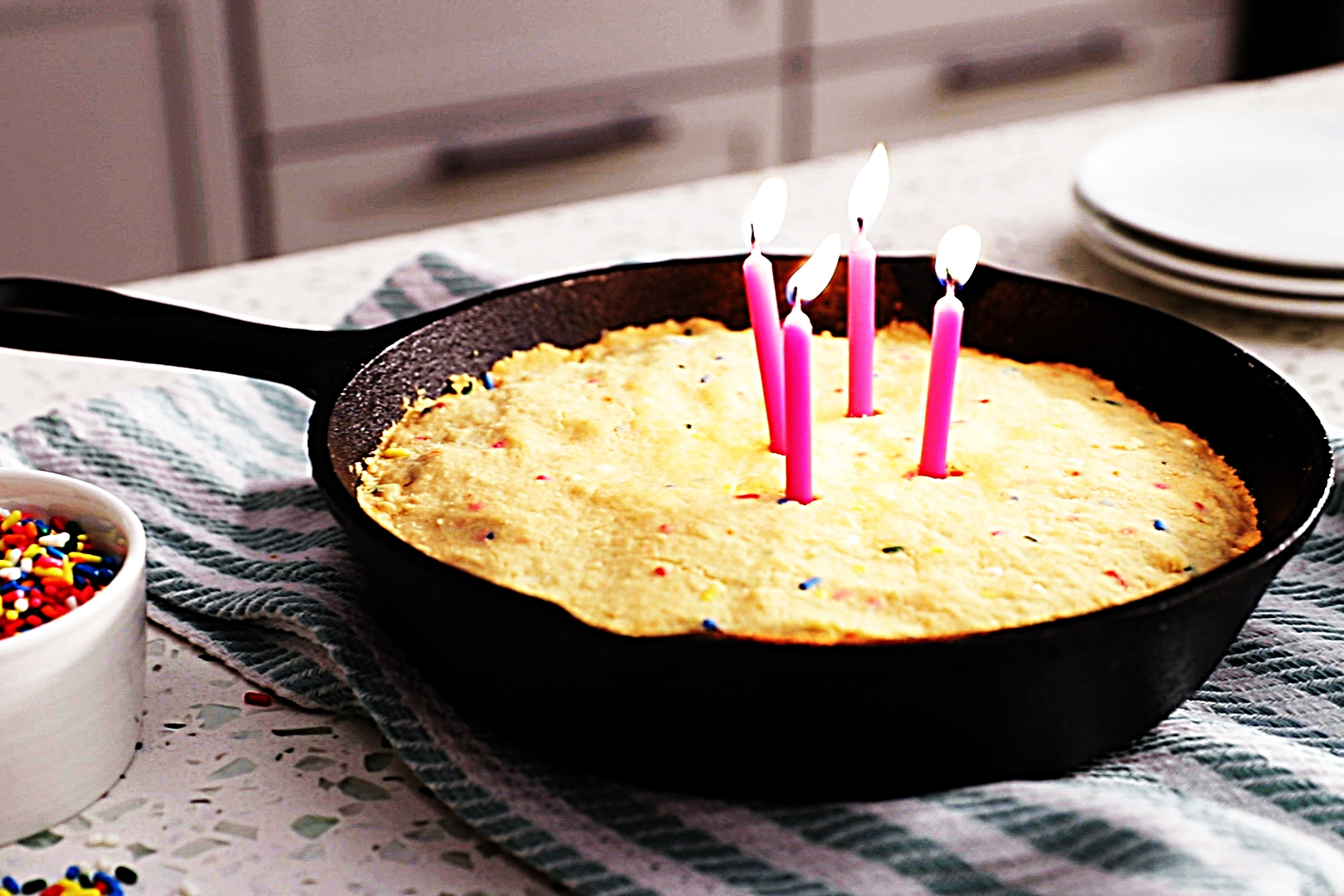 Stupid-Easy Recipe for Birthday Cake Skillet Cookie (#1 Top-Rated)