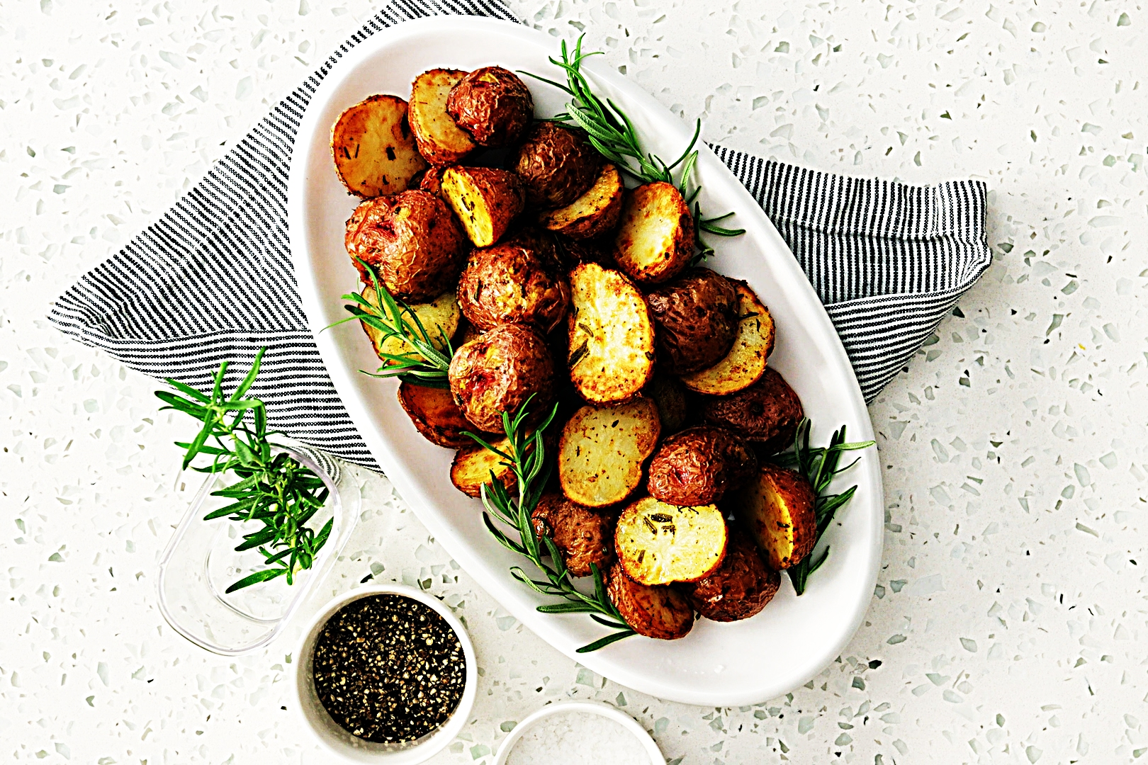 Stupid-Easy Recipe for Crispy Herb-Roasted Potatoes (#1 Top-Rated)