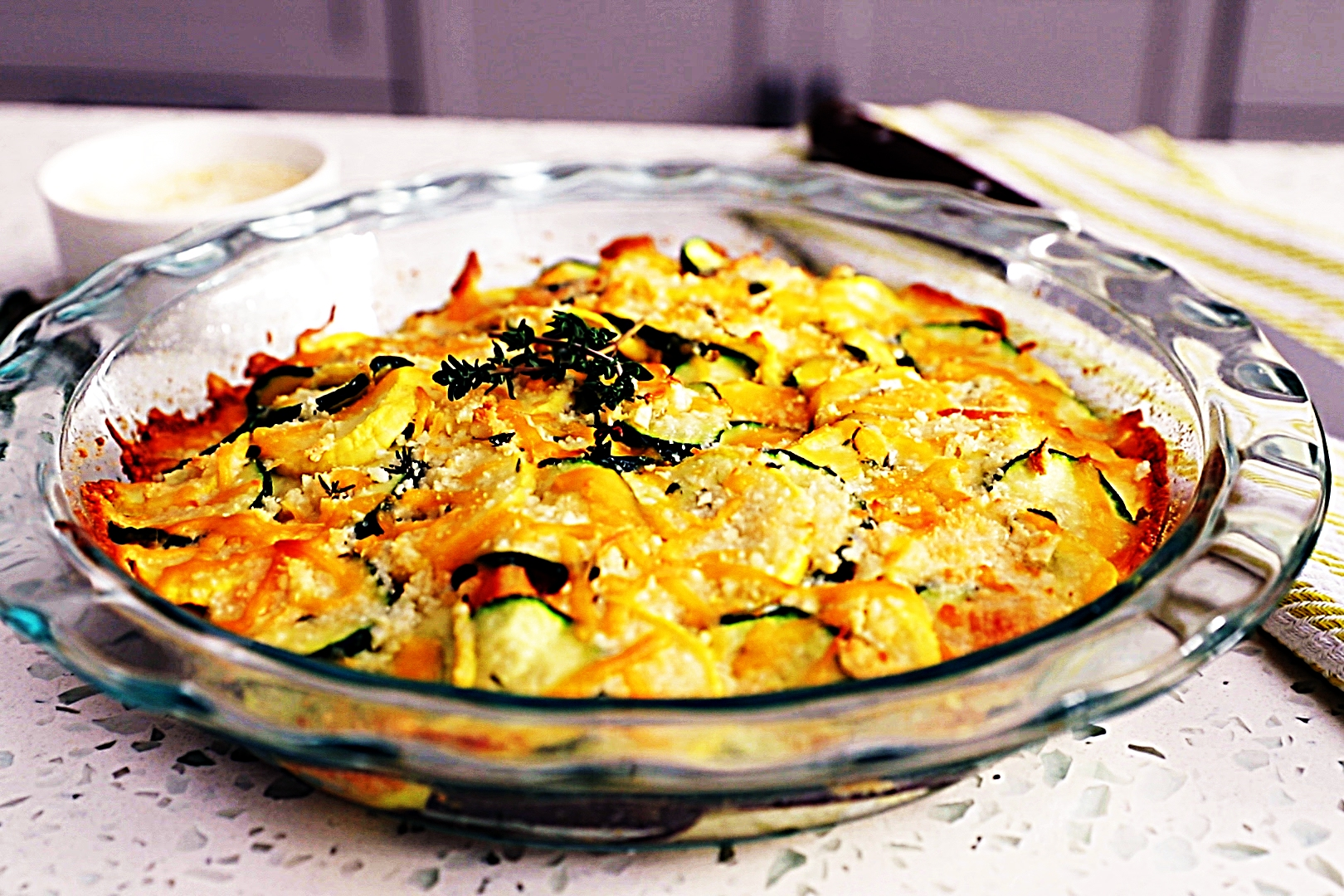 Stupid-Easy Recipe for Farmer's Market Vegetable Bake with Sharp Cheddar and Parmesan (#1 Top-Rated)