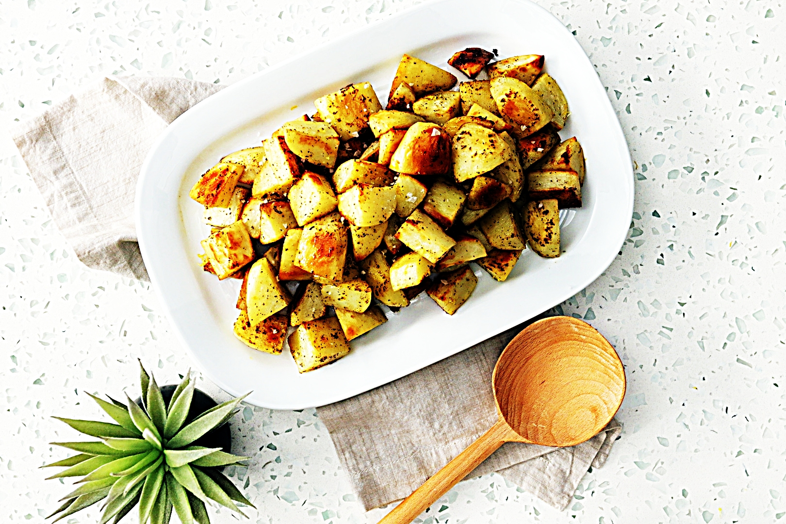 Stupid-Easy Recipe for Lemon and Black Pepper Roasted Potatoes (#1 Top-Rated)