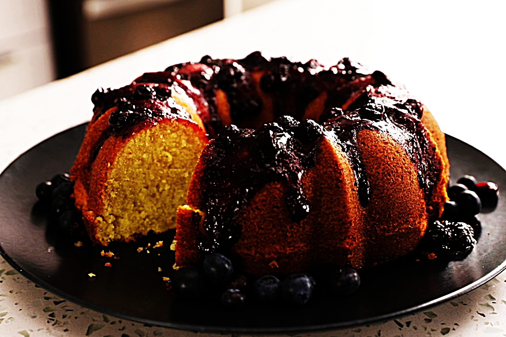 Stupid-Easy Recipe for Lemon Olive Oil Cake with Blueberry Compote (#1 Top-Rated)