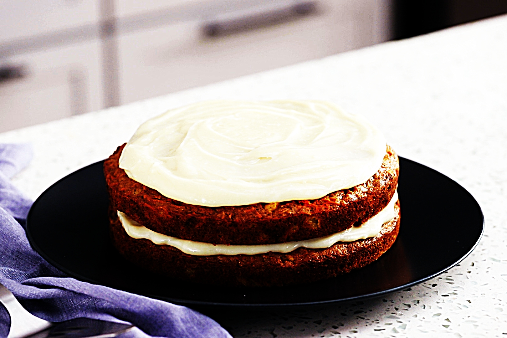 Stupid-Easy Recipe for Skinny Carrot Cake with Greek Yogurt Cream Cheese Frosting (#1 Top-Rated)